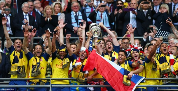 Arsenal lift the cup